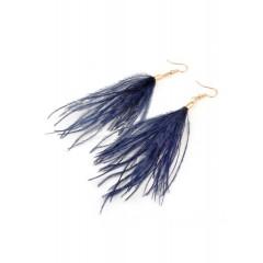 Серьги кисти, перья