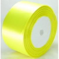 02А48-16 Лента атласная 4,8см 4шт ультра-желтый