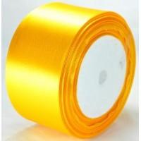 02А48-2 Лента атласная 4,8см 4шт ярко-желтая