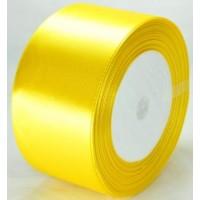 02А48-23 Лента атласная 4,8см 4шт желтая