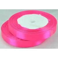 03А12-8 Лента атласная 1,2см 10шт ярко-розовый
