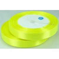 04А12-28 Лента атласная 1,2см 10шт ультро-желтый