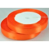 05А12-17 Лента атласная 1,2см 10шт красно-оранжевый