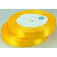 04А12-9 Лента атласная 1,2см 10шт оранжево-желтый