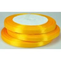 08А07-29 Лента атласная 7мм 10шт желто-оранжевая