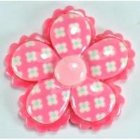 13-2 кабошон цветочек по 50шт Ф2,8см (розовые)