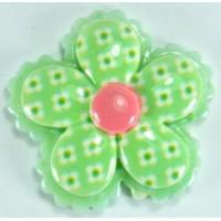 13-3 кабошон цветочек по 50шт Ф2,8см (зеленые)