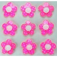 19-1 кабошон цветочек 50шт Ф1,8см (розовые)