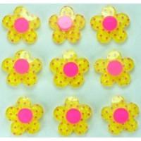 19-3 кабошон цветочек 50шт Ф1,8см (желтые)
