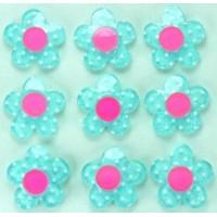 19-4 кабошон цветочек 50шт Ф1,8см (голубые)