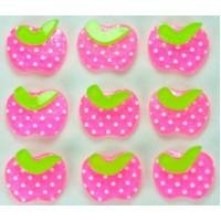 20-2 кабошон яблочко 50шт размер 1,6х1,3см (розовые)