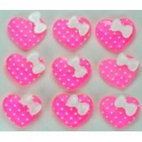 21-2 кабошон сердечко 50шт размер 1,7х1,5см (розовые)