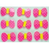 23-3 кабошон бантик 50шт размер 2х1,3см (розовые)