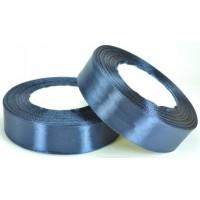 А25-40 Лента атласная 2,5см 5шт темно-синяя 32м