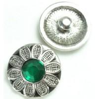 СБЧ1600-5-2 Кнопка чанка для браслета Noosa цветок