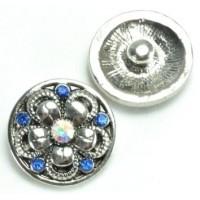 СБЧ1600-5-3 Кнопка чанка для браслета Noosa цветок2