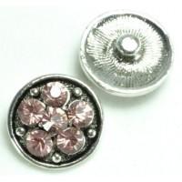 СБЧ1600-5-4 Кнопка чанка для браслета Noosa цветок3