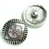 СБЧ1600-5-4 Кнопка чанка для браслета Noosa круг в квадрате