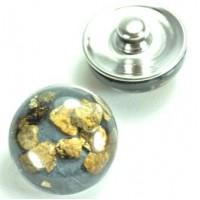 СБЧ830-1 Кнопка чанка для браслета Noosa Ф2см черная