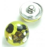 СБЧ830-1 Кнопка чанка для браслета Noosa Ф2см олива