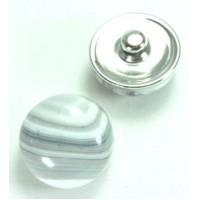 СБЧ830-2 Кнопка чанка для браслета Noosa Ф2см белая