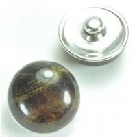 СБЧ830-2 Кнопка чанка для браслета Noosa Ф2см коричневая