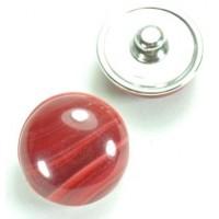 СБЧ830-2 Кнопка чанка для браслета Noosa Ф2см красная