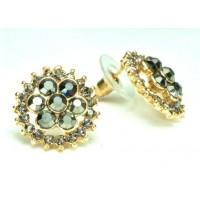 СГ1550-11 Серьги с серыми камнями