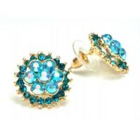 СГ1550-11 Серьги с голубыми камнями