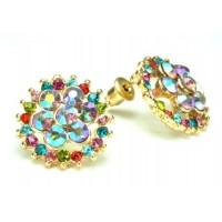 СГ1550-11 Серьги с разноцветными камнями