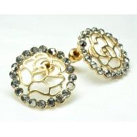 СГ1550-15 Серьги с серыми камнями