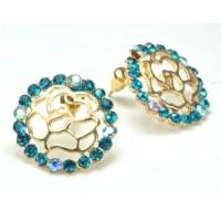 СГ1550-15 Серьги с голубыми камнями