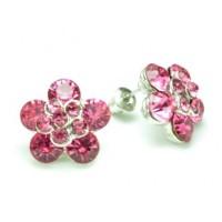 СГ1550-16 Серьги с розовыми камнями