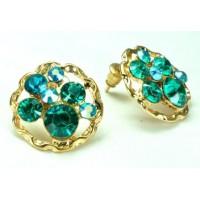 СГ1550-17 Серьги с голубыми камнями