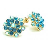 СГ1550-4-2 Серьги с голубыми камнями