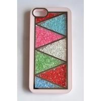 Ч5986-12-3 Чехол для iphone5. Нежно розовый с двигающимися камнями 6х12,5см