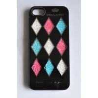 Ч5986-13-2 Чехол для iphone5. Черный с двигающимися камнями 6х12,5см