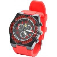 Часы Ferrari95-3 красные, диаметр корпуса 4,5см, ремешек силиконовый