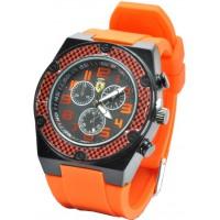 Часы Ferrari95-3 оранжевые, диаметр корпуса 4,5см, ремешек силиконовый