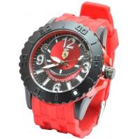Часы Ferrari95-4 красные, диаметр корпуса 5см, ремешек силиконовый