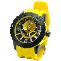 Часы Ferrari95-4 желтые, диаметр корпуса 5см, ремешек силиконовый