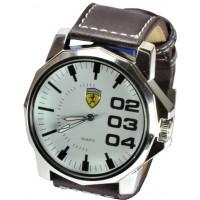 Часы Ferrari95-6-2 кварцевые диаметр корпуса 5см, ремешек кожзам