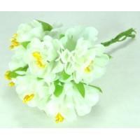 ЦВ160-1/6 Цветочек тканевые 6шт Ф6см белые