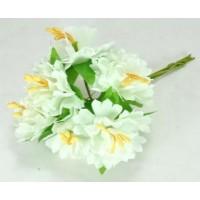 ЦВ160-2/6 Цветочек тканевые 6шт Ф6см белые