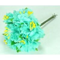 ЦВ160-2/6 Цветочек тканевые 6шт Ф6см мятные