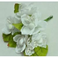 ЦВ160-3/6 Цветочки тканевые Ф4см 6шт белые