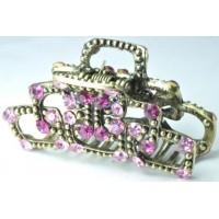 К2510-3 Краб бронза длина 5,5см, с розовыми камнями
