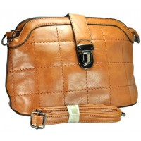 Арт 8133-3 Клатч-сумка св.-коричневая 28х17,5х11см