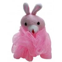Мочалка бантик с игрушкой кролик
