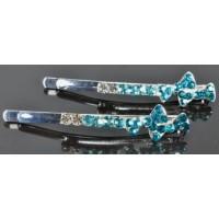 Н1000-5/2 Невидимка длина 6,5см с голубыми камнями